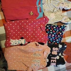 6 pairs of toddler PJs
